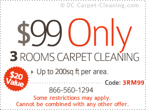 $99 only - 3 rooms carpet cleaning