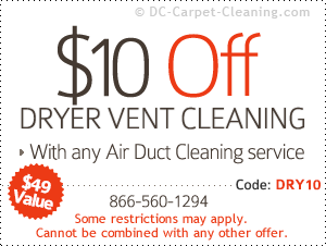 50% off dryer vent cleaning