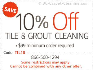 10% off tile & grout cleaning
